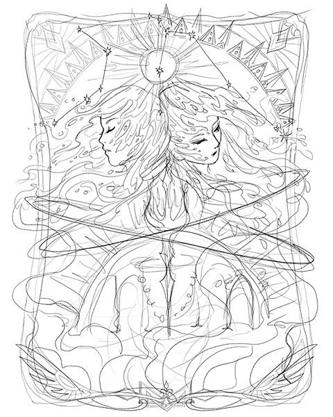 Aquarius inital sketch