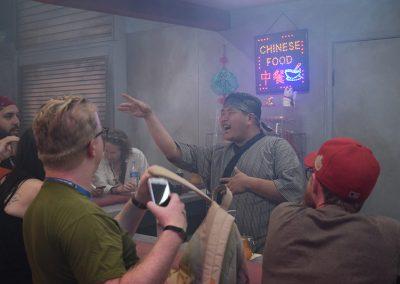 Blade Runner Experience sdcc 2017 - asian bar man