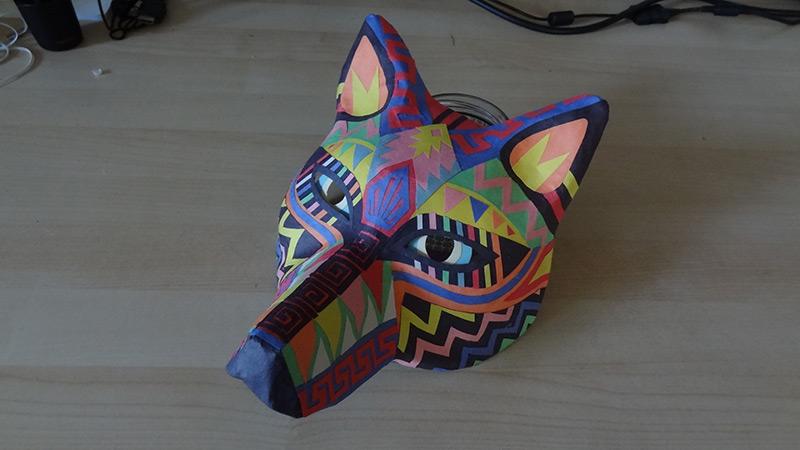 tribal pattern wolf mask