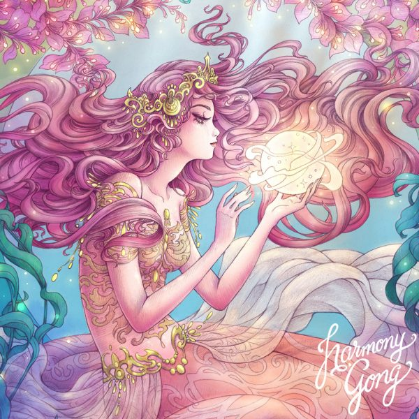 Mermaid Magic - close up - Harmony Gong
