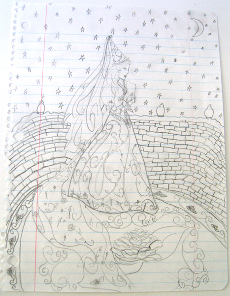 Rose Princess - Original drawing from when I was 9