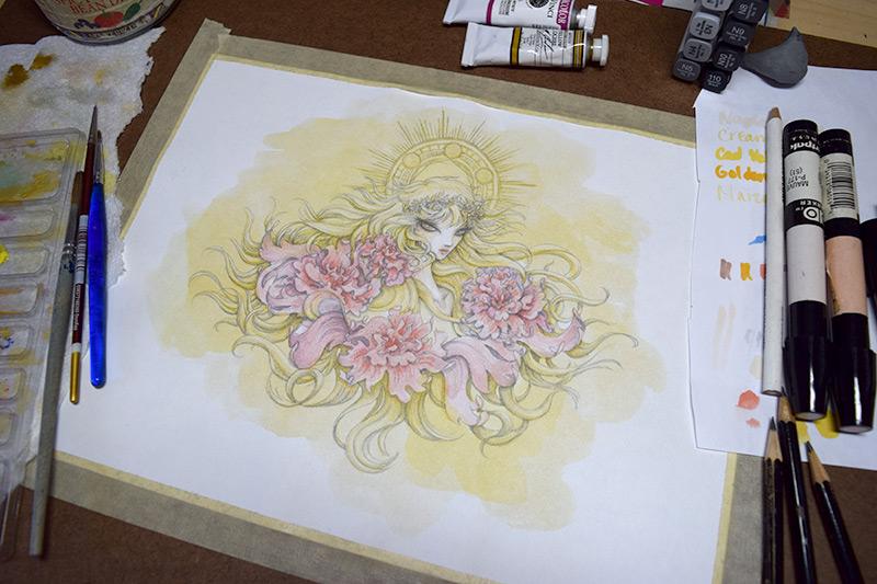 Gold Saint Holy Roses